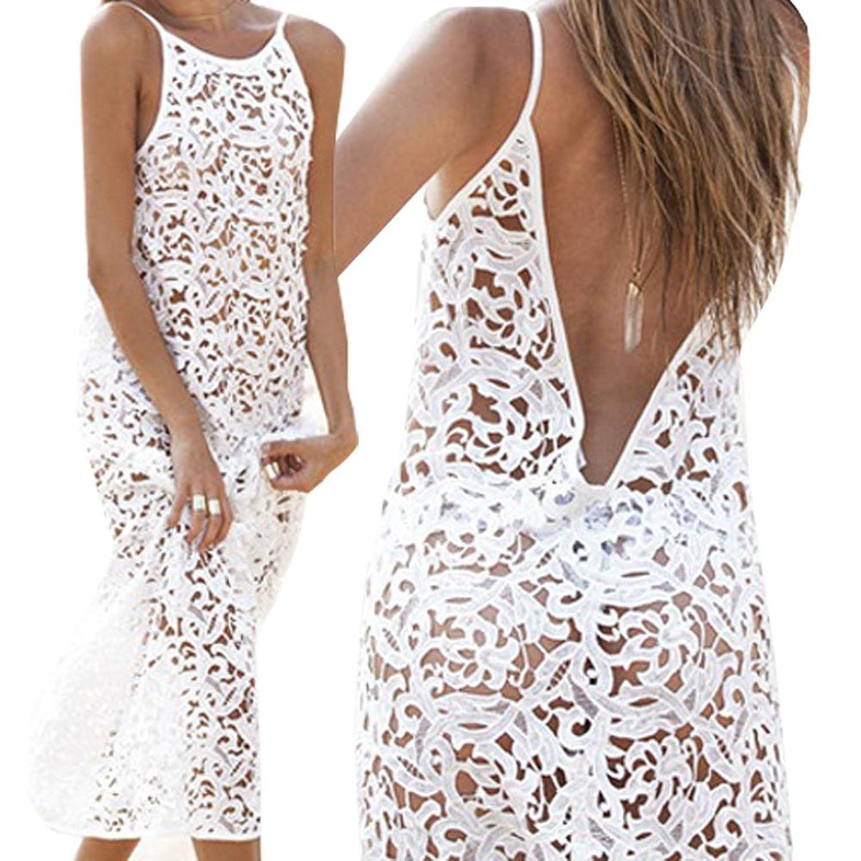 Tenflyer reizvolle Frauen-Sommer-langes Kleid-Abend-Partei-Kleid-Strand-Kleid-Spitze-Kleid