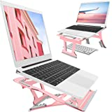 2 In 1 Adjustable Laptop Stand, 9 Angles, 3 Folding Modes. Portable Ergonomic Angled Laptop Aluminum Stand. Adjustable…
