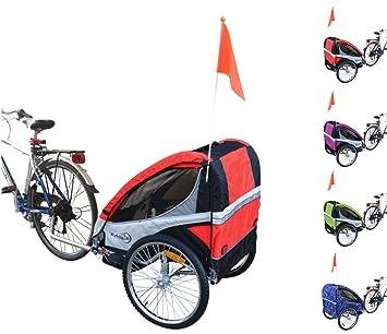 Papilioshop - Remolque carrito Eagle plegable para enganchar a la bicicleta para el transporte de 1 o 2 niños, rojo: Amazon.es: Deportes y aire libre