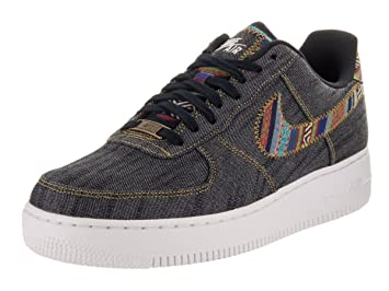 size 40 e03a2 722fe Nike Air Force 1 07 Lv8 Retro Mens Trainers Obsidian White - 10.5 UK