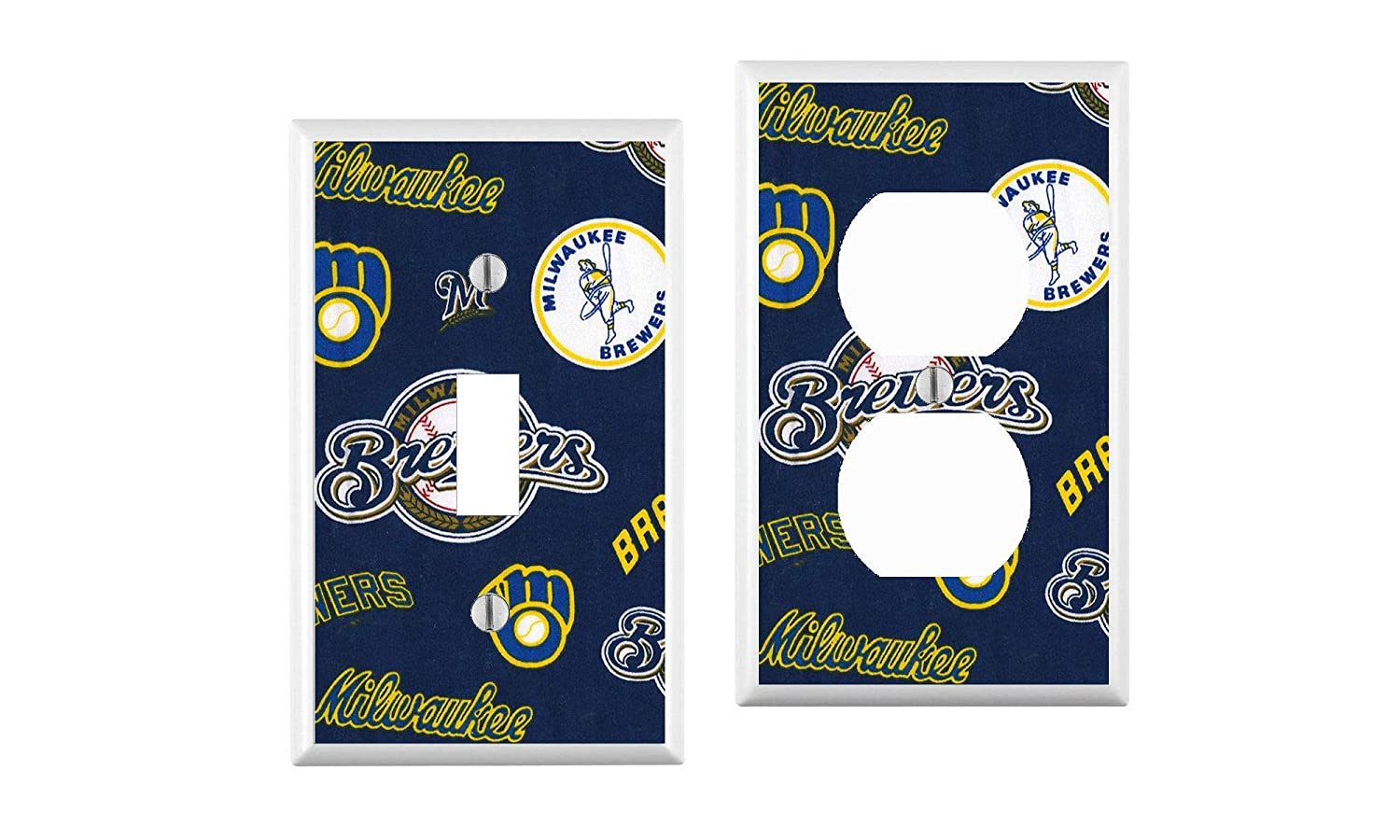 Milwaukee Brewers Light Switch Cover your custom choice of switch plate//outlet covers
