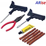 JAGGER Tubeless Tyre Puncture Repair Kit with 5 Rubber Strips, plier and Solution