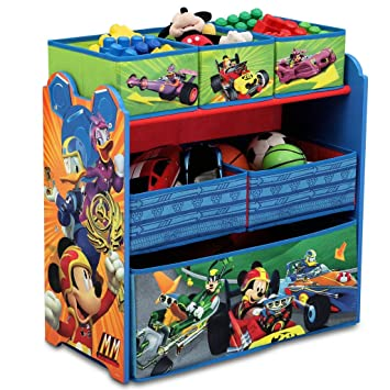Amazon Com Disney Mickey Mouse Multi Bin Toy Organizer By Delta