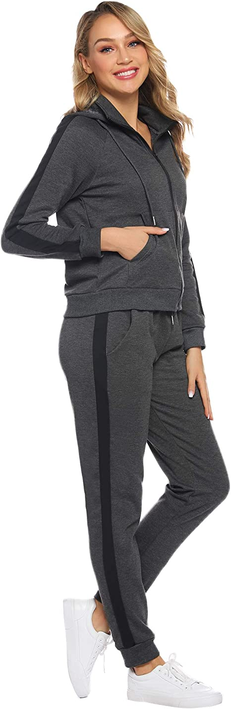 Pantalon Joggers Casual Confortable 2 Pics Jogging Pyjama dint/érieur MessBebe Surv/êtement Femme Ensembles Sportswear Sweat Capuche Suit Pull /à Capuche avec Poches
