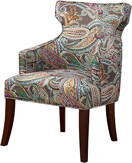 Madison Park Kujawa Notch Back Accent Chair Multi See Below