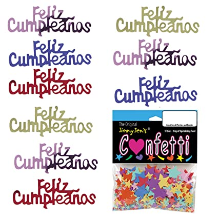 Amazon.com: Confetti Word Feliz CUMPLEANOS Multicolors - 4 ...