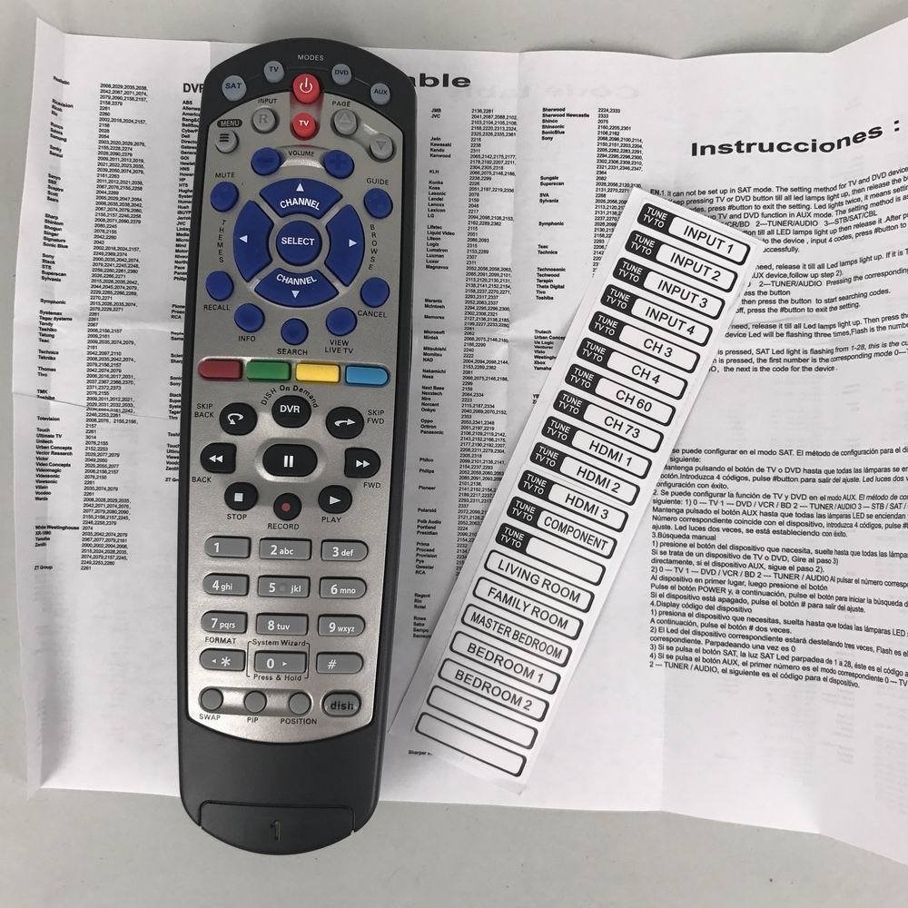 Amazon.com: Replacement Dish Network 20.1 IR Satellite Receiver Remote  Control: Home Audio & Theater