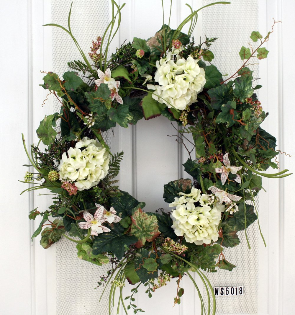 White Hydrangea Everyday Wreath