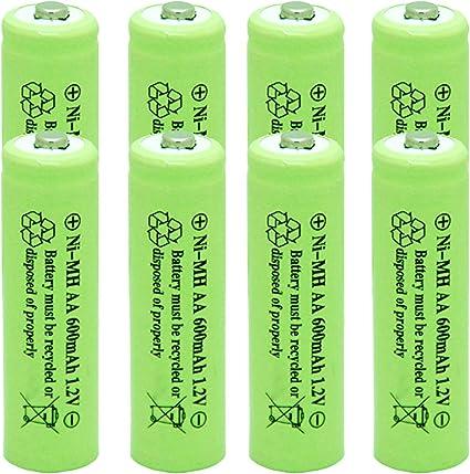 RELIGHTABLE Solar Light AA Ni-CD 600mAh 1.2V Rechargable Batteries Pack of 8