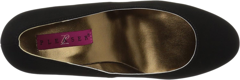 Black Nubuck Suede Pleaser Womens Kim08//Bnbsue Wedge Sandal 10 M US