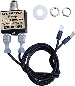 5 Amp Circuit Breaker, Push Button