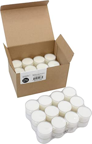 Stonebriar 8 Hour Long Burning Unscented Clear Cup Tea Light Candles, 48 Pack, 48 Count
