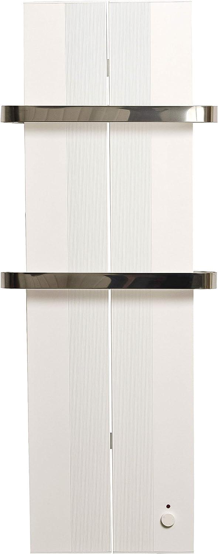 Finesa Badheizkörper Handtuchwärmer Elektrischer Wärmeabgabe 400 750 W Termostat Handtuchtrockner Handtuchhalter 1000x404 Weiß 5 Jahre