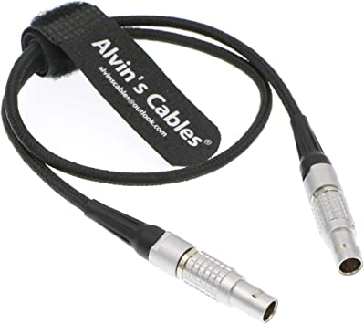 Alvins Cables 2 Pin Male Right Angle to Anton D-Tap Flexible Power Cable for Teradek ARRI