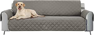 """E-Living Store Z01684 Reversible Furniture Protector with 2 Inch Elastic Strap, Machine Washable, Perfect for Pet and Kids, Seat Width Up to 54"""", Loveseat, Grey"""