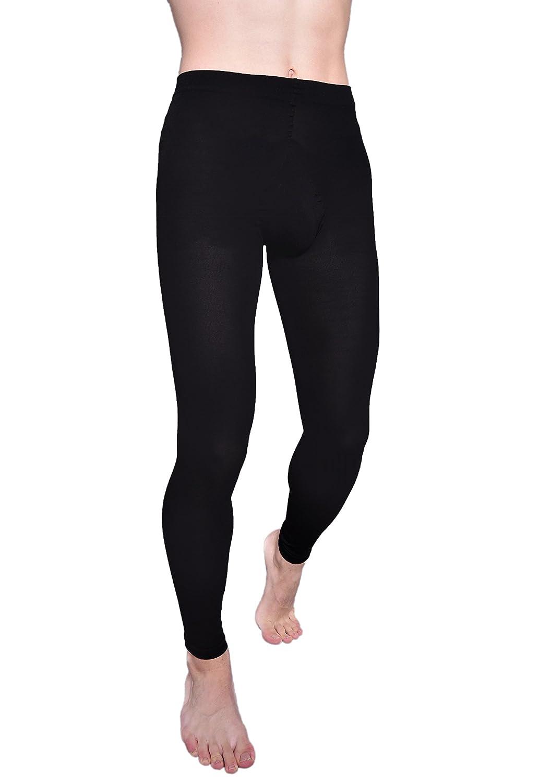 75558e37891 Knittex Sporty Black Opaque Leggings For Men Strong Front Gusset 100 Denier  sizes S M