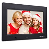 """TEC.BEAN 10.1"""" 16G HD Digital Picture Frame with Built-in Storage & Motion Detection, MP3 & Video Player (Black)"""