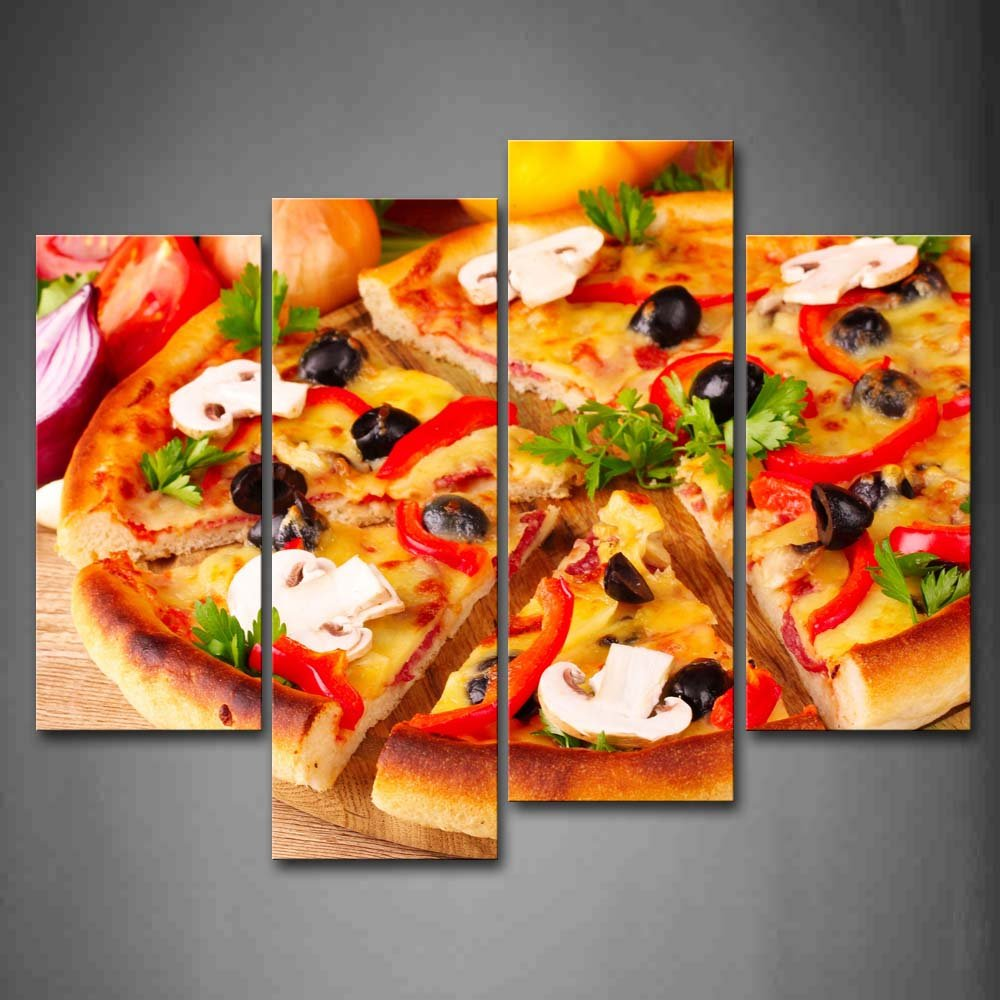 Amazon com first wall art delicious pizza wall art painting the