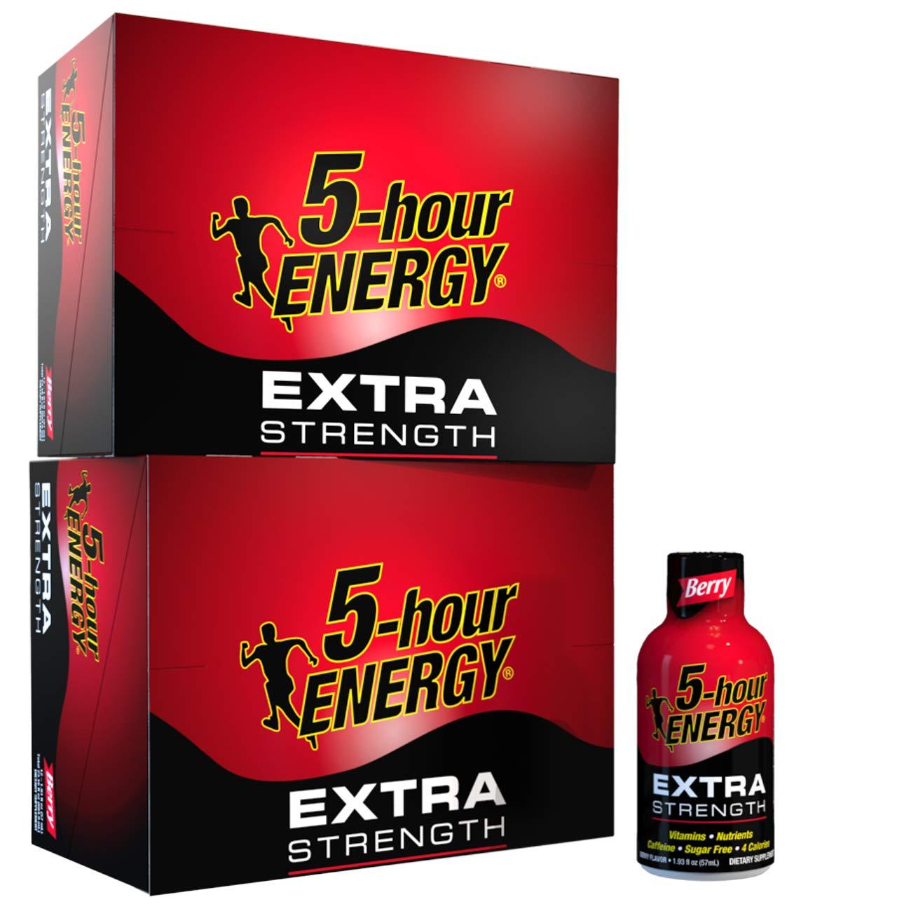 5-hour ENERGY Shot, Extra Strength, Berry, 1.93 Ounce, 24 Count
