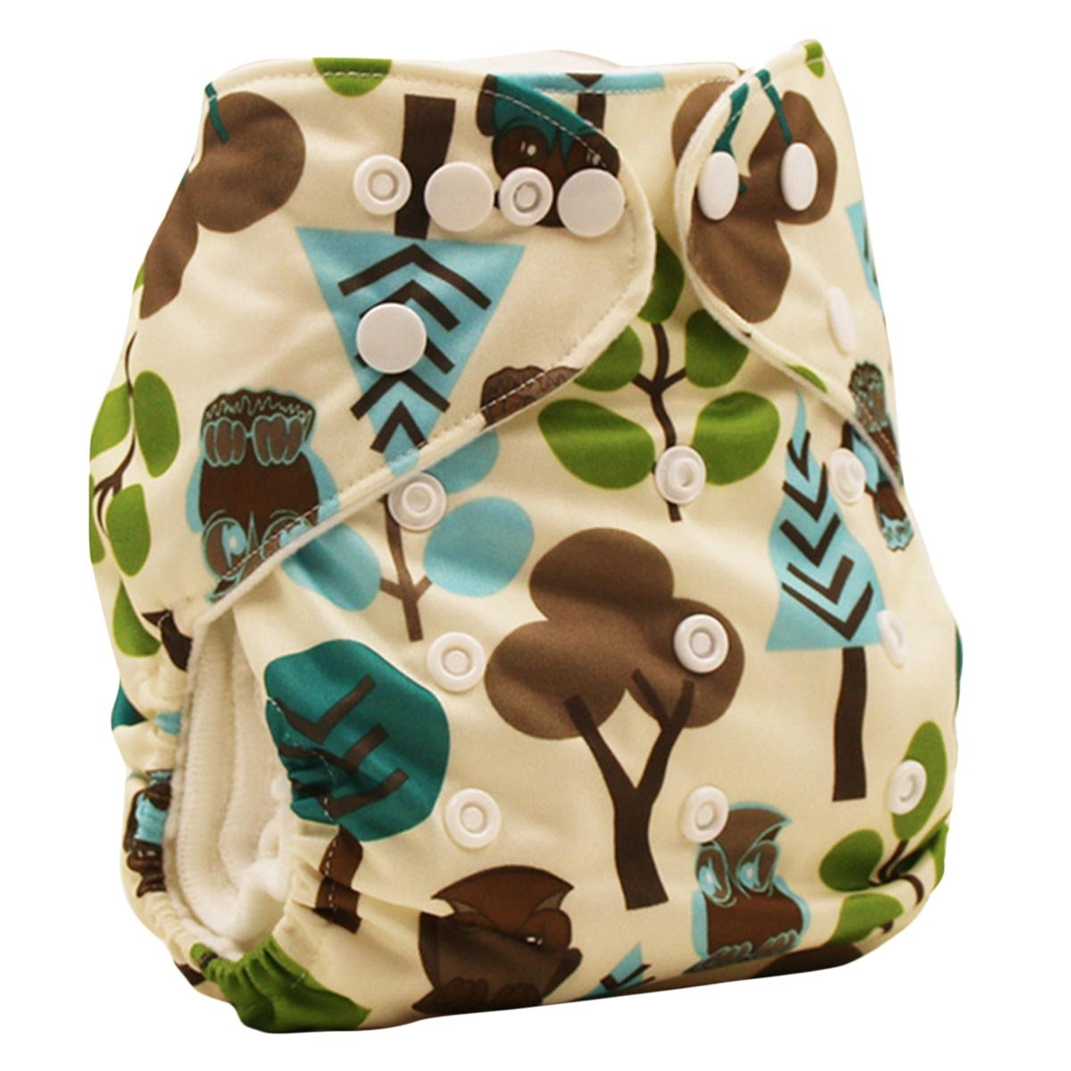 Happy Cherry Baby One Size Cloth Diaper Cover Snap for Prefolds, Flower
