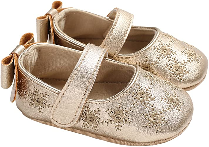 New Baby Infant Toddler Comfort Ballet Flat Mary Jane Slip-On School Shoes