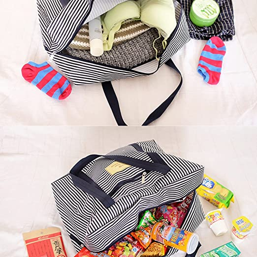 e251d49ebeff Mwfus Travel Foldable Luggage Bag Clothes Storage Carry-On Duffle Organiser
