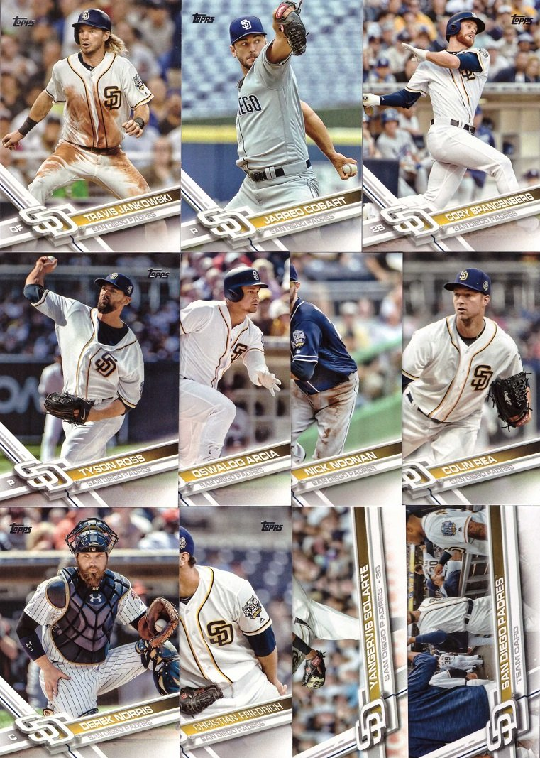 Galleon 2017 Topps Series 1 San Diego Padres Baseball Card