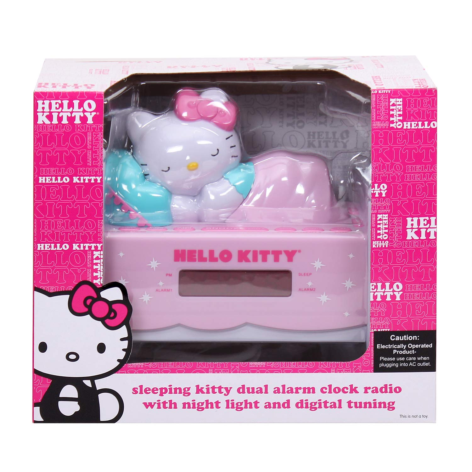 d12eef125b83 Amazon.com  HELLO KITTY KT2052A Alarm Clock Radio with Night Light  Home  Audio   Theater
