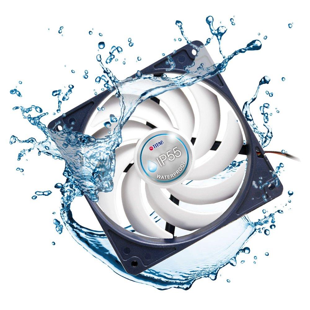 Amazon.com: Tian IP55 120mm WATERPROOF 120X120X25 Fan TFD-12025H12B ...