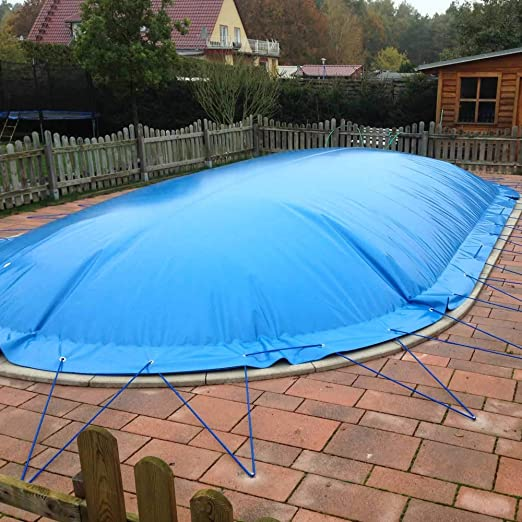 POOL Total - Lona hinchable para piscinas ovaladas (6, 00 x 3, 20 m), color azul: Amazon.es: Jardín