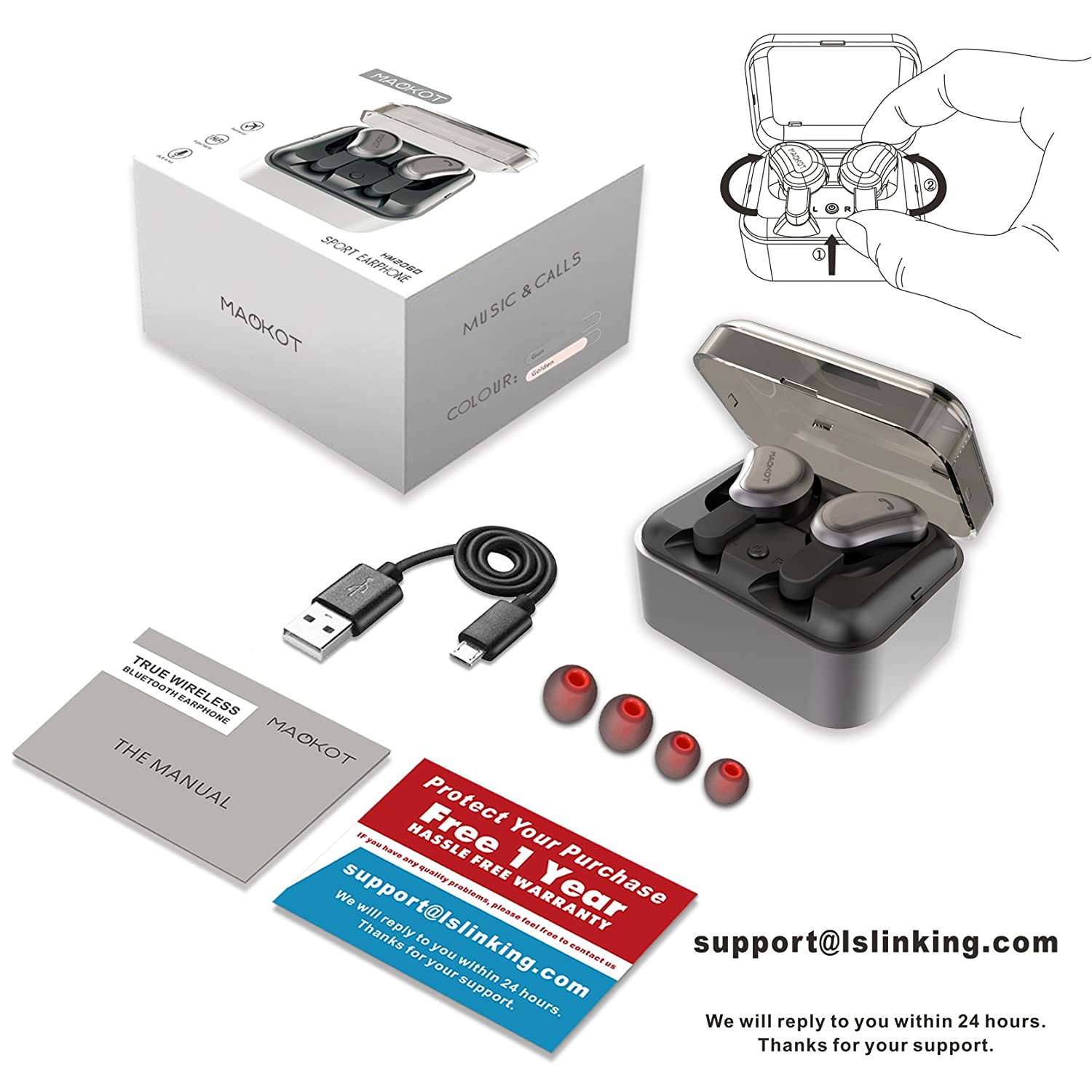 1a4a7419ea9 Some Images Of Best MAOKOT true Wireless Bluetooth Earbuds Under 100