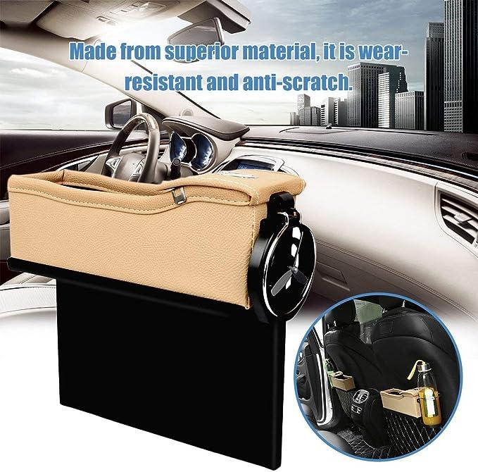 Car Seat Crevasse Bo/îte de Rangement Coupe Drink Holder Organisateur Gap Auto Pocket tidying pour t/él/éphone Carte-Monnaie Accessoires