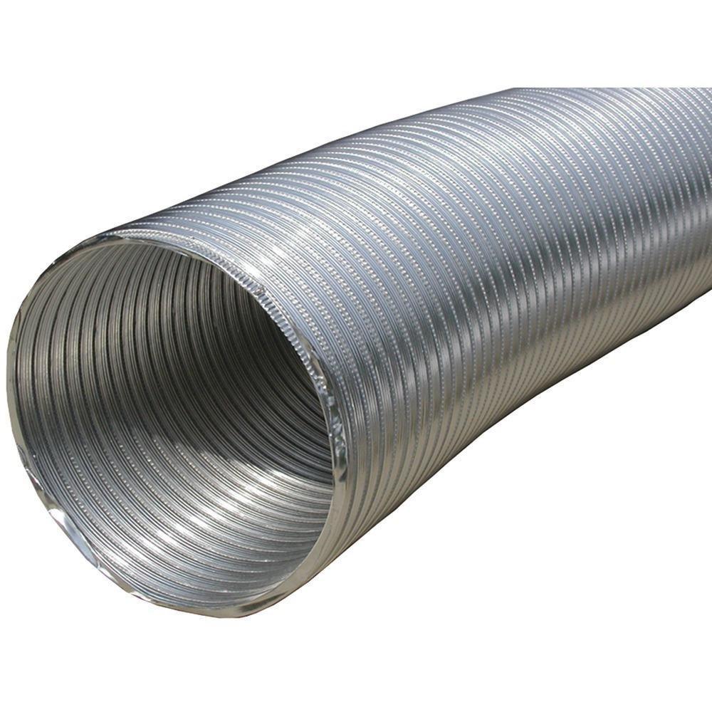Builder's Best 110412 Semi-Rigid Aluminum Duct with 10'' Dia, 8'