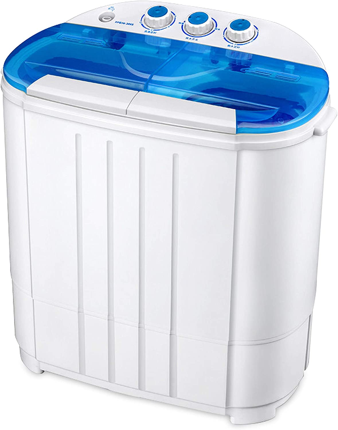 Jialili 【Ship from USA】 10L Mini Washing Machine with Foldable Tub Portable Personal Rotating Ultrasonic Turbines Washer for Camping Apartments Dorms RV Business Trip Blue