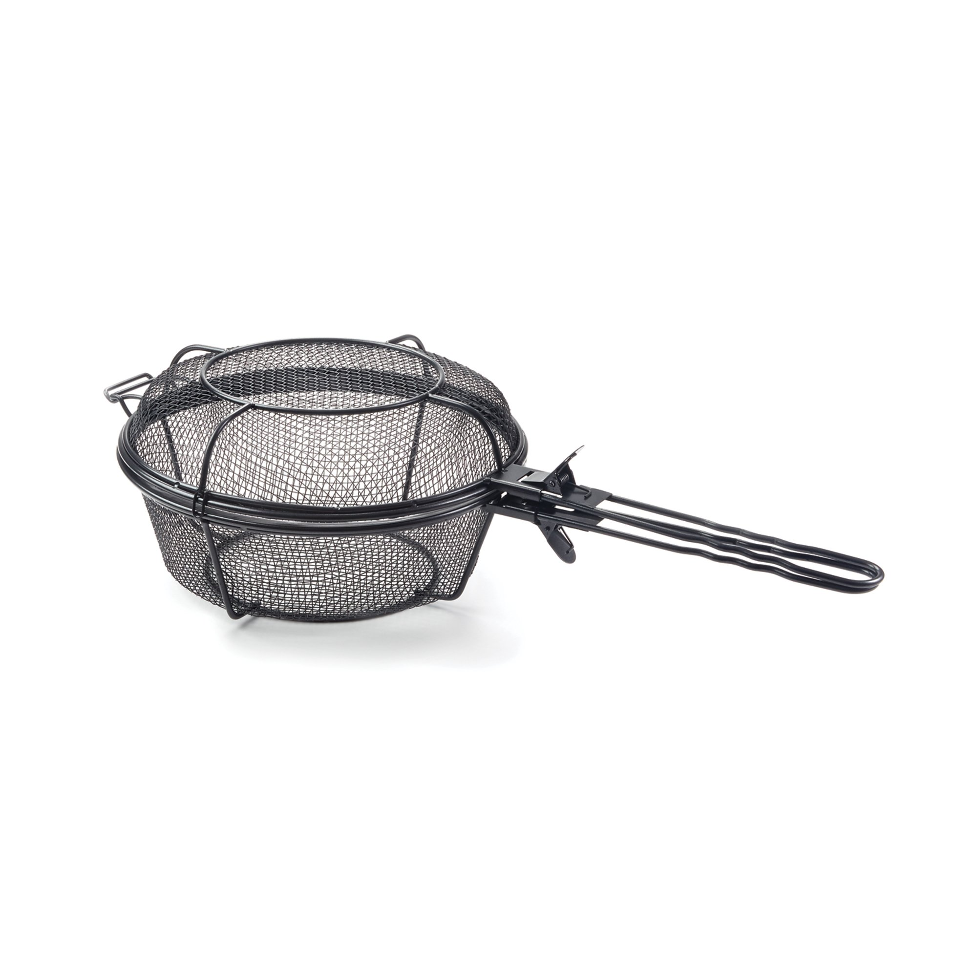 Outset 76182 Chef's Jumbo Outdoor Grill Basket and Skillet with Removable Handles by Outset