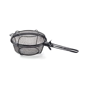 Outset 76182 Chef's Jumbo Outdoor Grill Basket and Skillet with Removable Handles