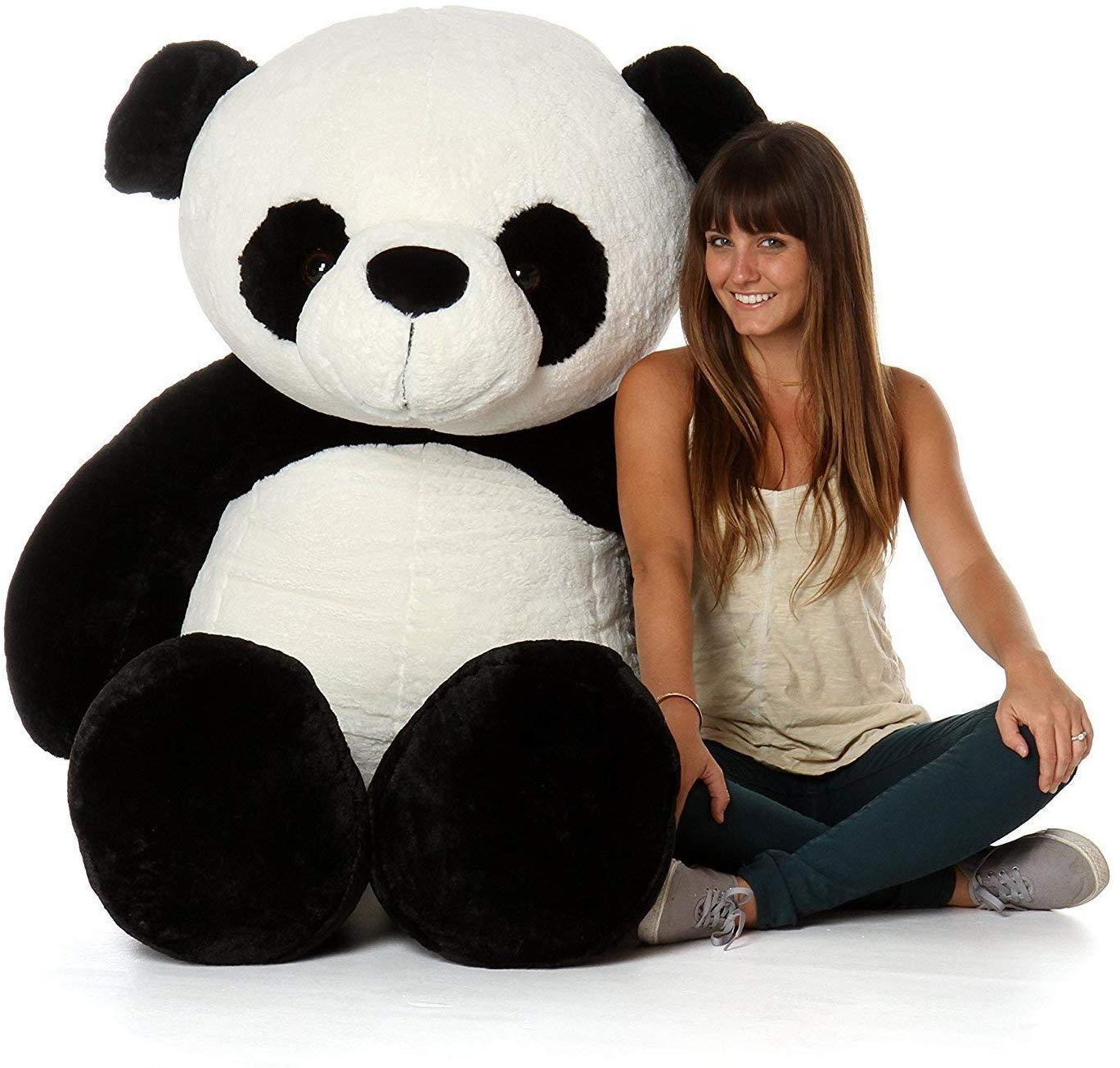 Anxiety Stuffed Animal, Buy Click4deal Giant Stuffed Spongy Huggable Cute Panda Teddy Bear 3 Feet Online At Low Prices In India Amazon In