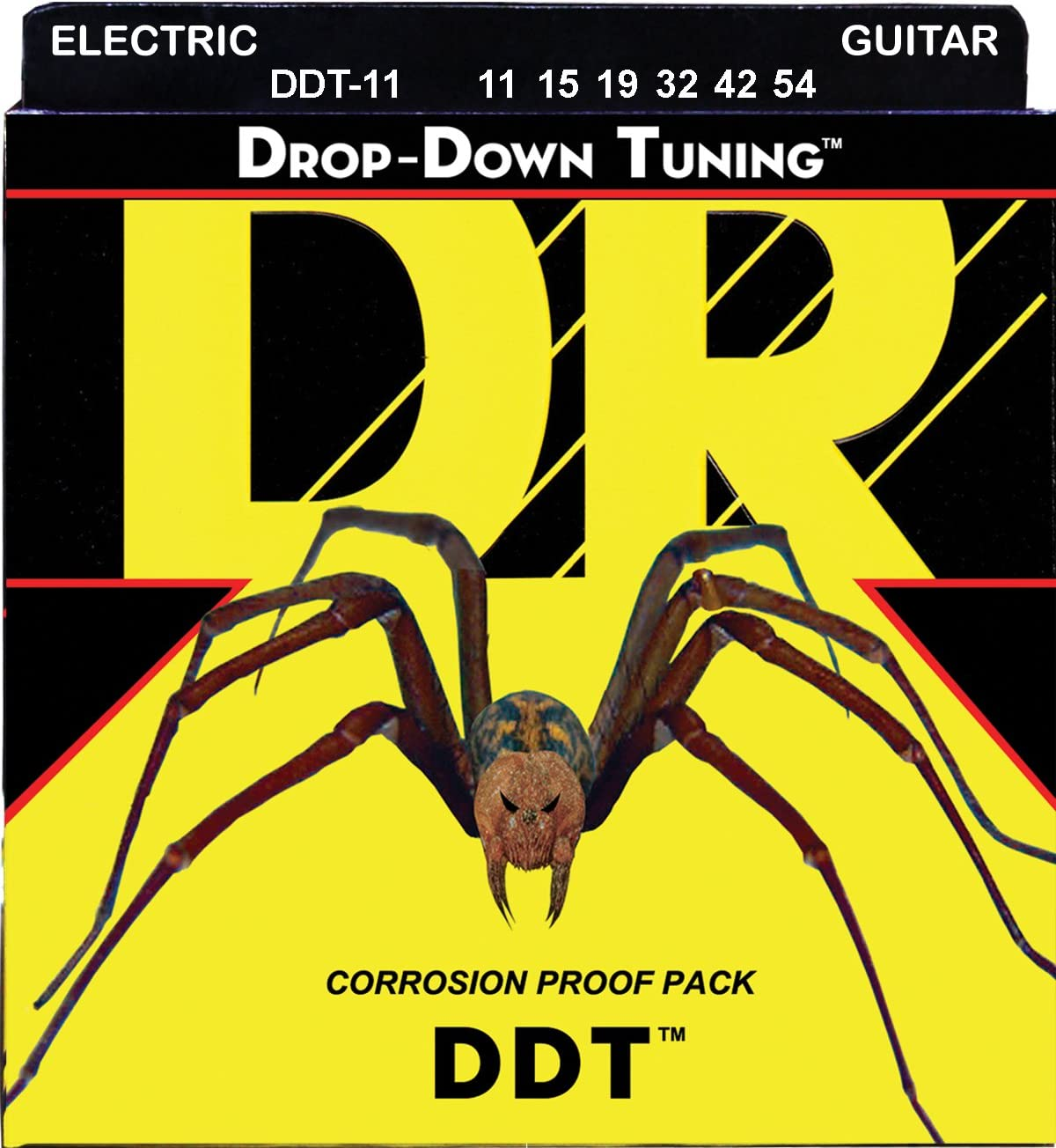 DR Strings DDT-11 Drop Down Tuning Extra Heavy Electric Guitar Strings 11-54