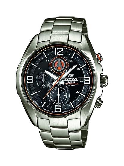 CASIO Reloj Cronógrafo para Hombre de Cuarzo con Correa en Acero Inoxidable EFR-529D-1A9VUEF: Amazon.es: Relojes