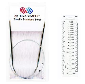 0 US 47 in ChiaoGoo 2.00 mm 120 cm :Steel Red LACE Circular Needles:
