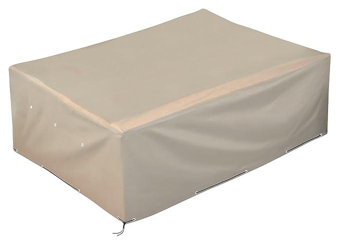 GardenMate® Housse protectrice pour mobilier de jardin en polyester 200x160x70 cm - Tissu Oxford 220 g/m² qualité premium - Sable Beige