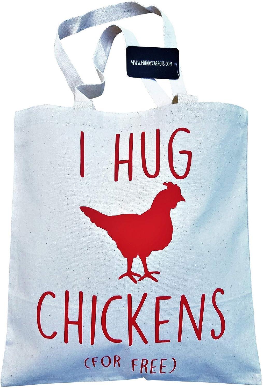 Cotton Canvas Chicken Tote Bag