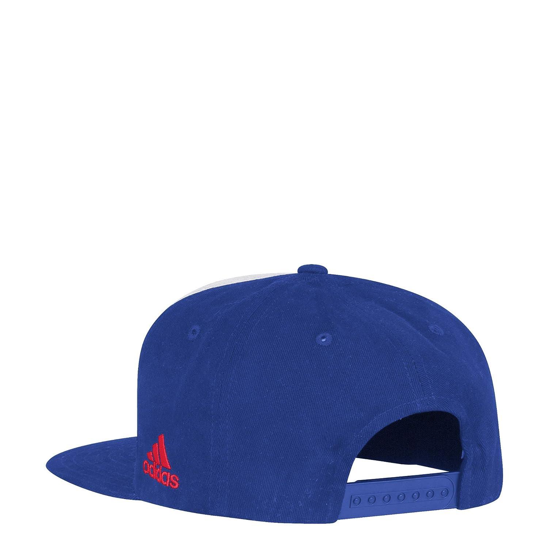 adidas NHL New York Rangers Flat Brim Snapback Hat One Size White