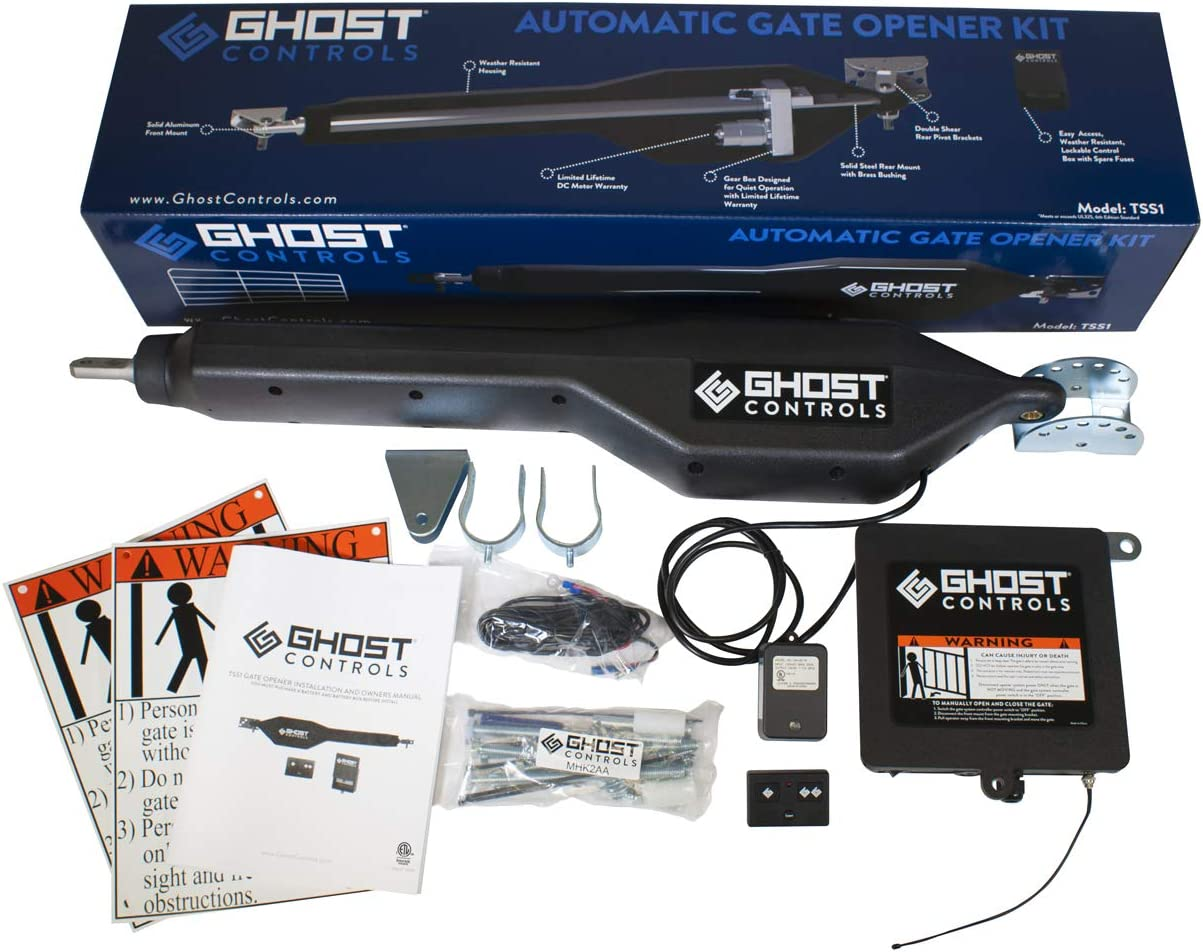 Ghost Controls TDS2 Heavy-Duty Dual Automatic Gate Opener Kit for Swing Gates Up to 20 Feet