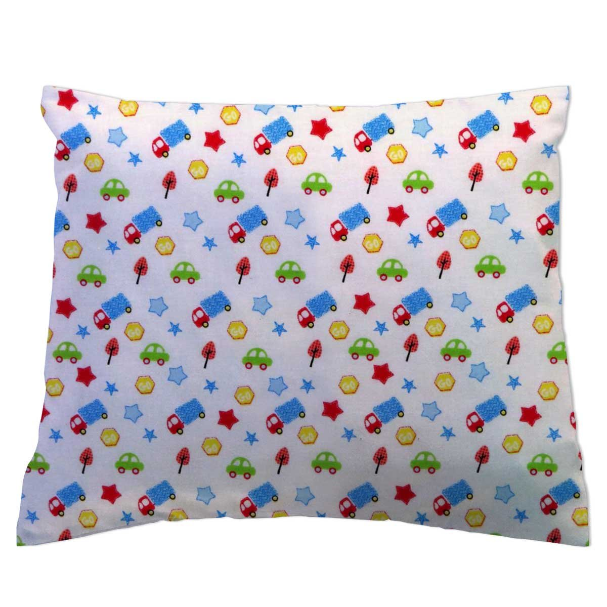 SheetWorld - Toddler Pillowcase Hypoallergenic 13 x 17 Made in USA - Kiddie Trains BPC-W1092