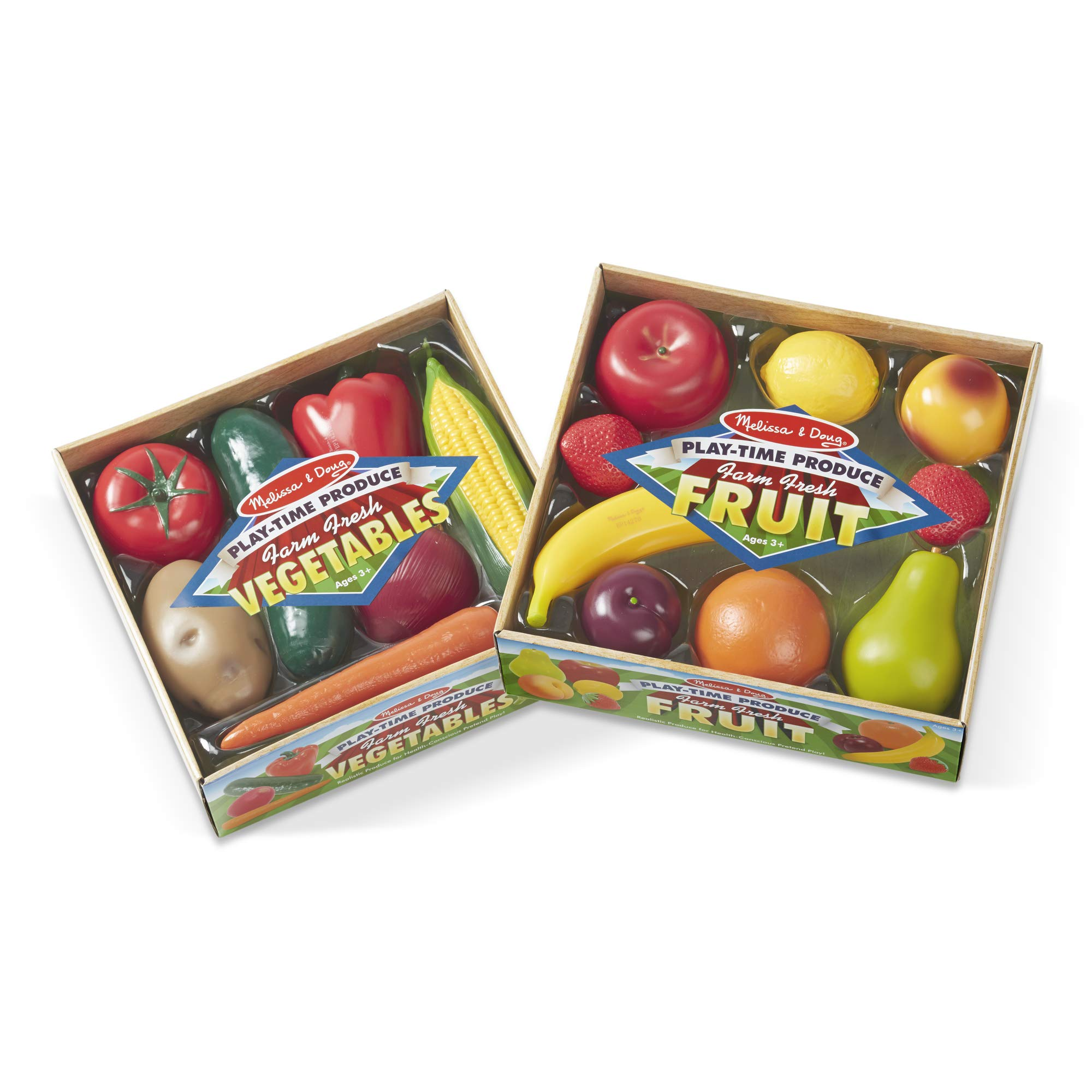 Melissa & Doug Play-Time Produce Set (Fruit, 9 Pieces, and Vegetables, 7 Pieces, Great Gift for Girls and Boys - Best for 3, 4, 5, and 6 Year Olds) by Melissa & Doug