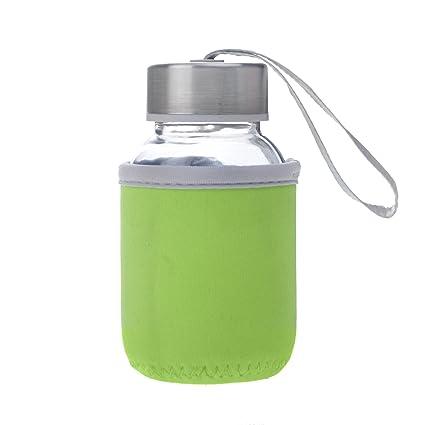 Aspire 5oz Premium Cristal Botella de Agua con Aislamiento Manga Tapas, Acero Inoxidable con Loop