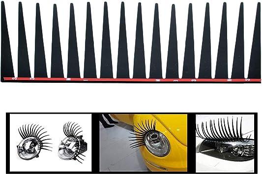Incutex 2er Set Scheinwerfer Wimpern Auto Wimpern Für Alle Autos Make Up Für Die Scheinwerfer Auto