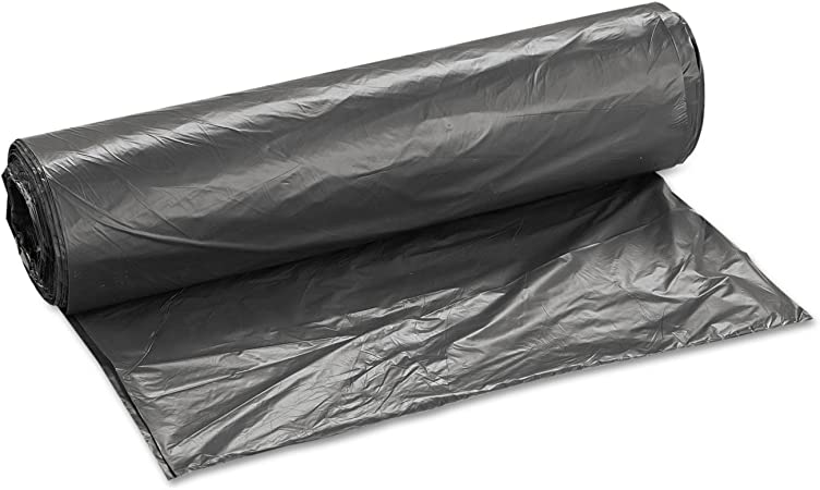 12mic 250 Liners//Carton 40 x 48 Black 45gal Inteplast S404812K Can Liner