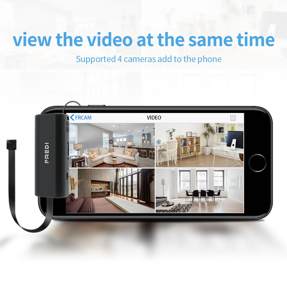 Hidden Camera,FREDI Spy Camera 720P Wireless WiFi IP Cameras Home/Office Security Mini Portable Covert Nanny Cam Works for iPhone iOS/Android mobilephone by FREDI (Image #3)